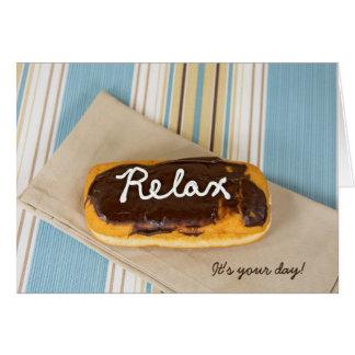 birthday-relax on donut card