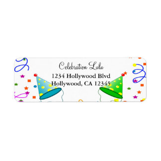 Birthday Return Address Label