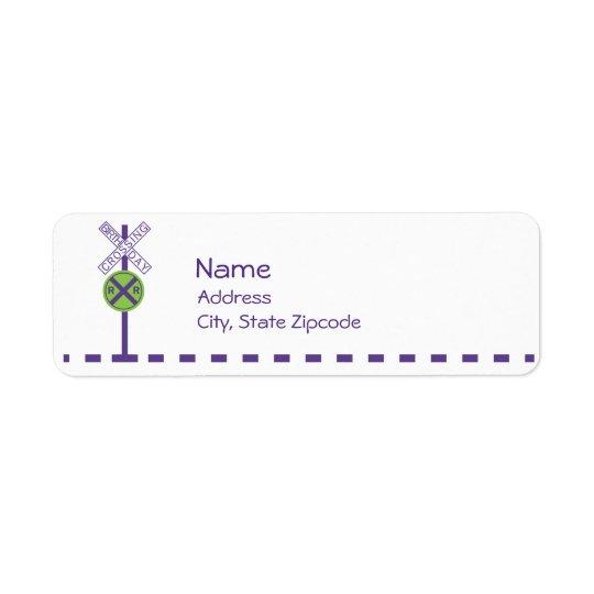 Birthday Return Address Label - Train