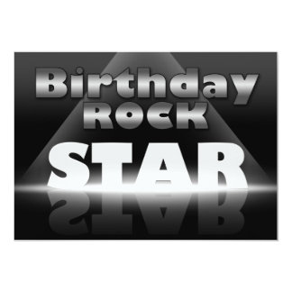 Birthday Rock Star Party Invitations