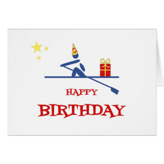 Birthday rower bringing gift card