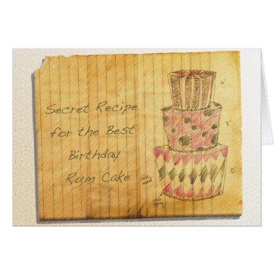 Birthday Rum Cake Card