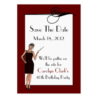 Birthday Save the Date Cards Pack Of Chubby Business Cards