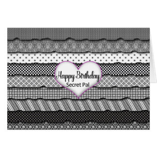 Birthday Secret Pal - Layers of Ruffles and Heart Card