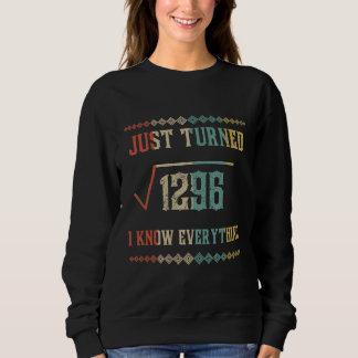 Birthday Shirt. Math Costume For 36 Years Old. Sweatshirt