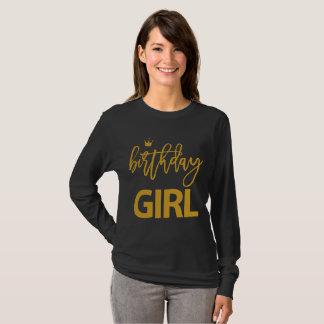 Birthday Shirts For Girls Golden Imitation