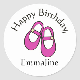 Birthday Shoes Stickers