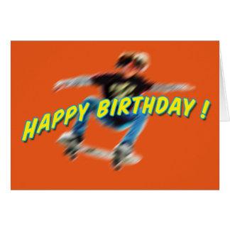 Birthday Skateboarding Card 2