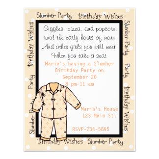 Birthday Slumber Party Invitation