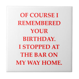 birthday small square tile