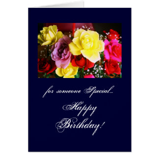 Birthday: someone special card