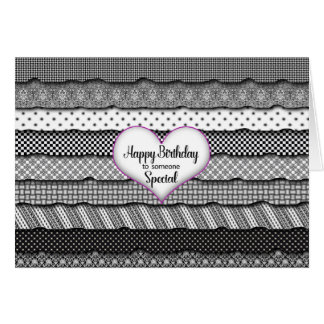 Birthday Someone Special - Heart & Ruffles Card