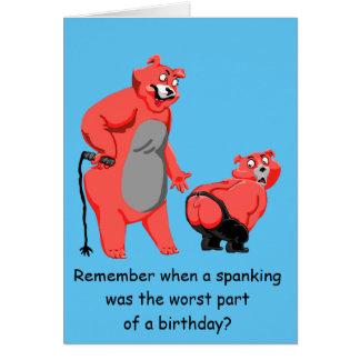 Birthday spanking card