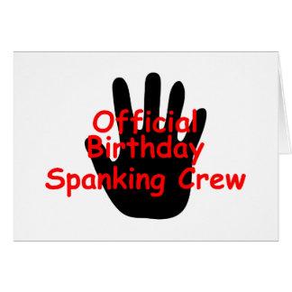 Birthday Spanking Crew Card
