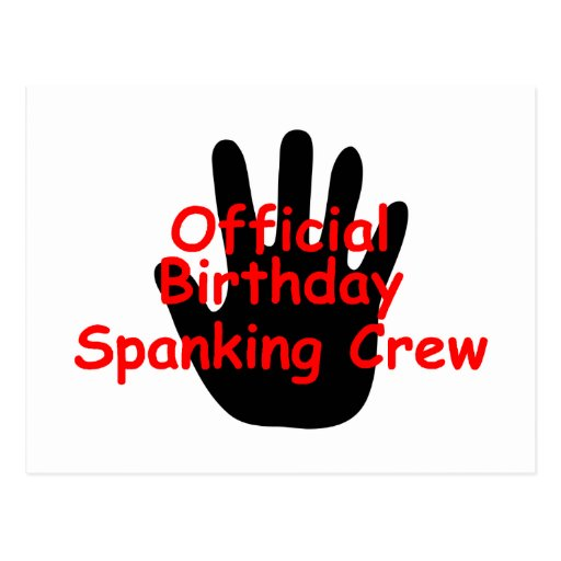 Birthday Spanking Crew Post Card