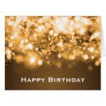 Birthday Sparkling Lights Gold Big Greeting Card