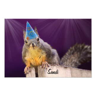 Birthday Squirrel Photo