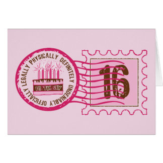 Birthday Stamp 16 Card
