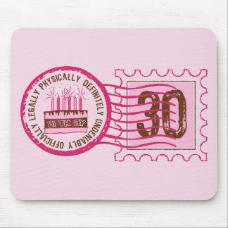 Birthday Stamp 30 Mousepad