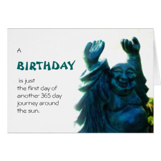 Birthday Statue Greeting Card