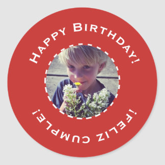 Birthday sticker with photo