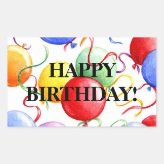 Birthday Stickers Happy Birthday Balloons