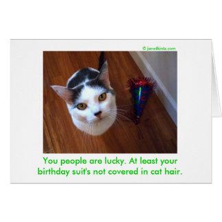 Birthday Suit Card