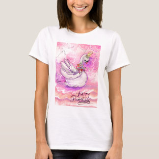 Birthday Swan Watercolor T-Shirt