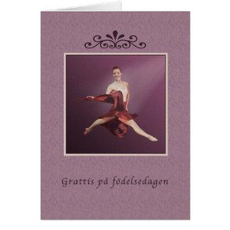 Birthday, Swedish, Grattis på födelsedagen, Ballet Card
