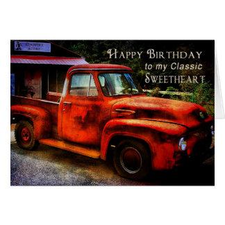 Birthday - Sweetheart (Boyfriend) Greeting Card