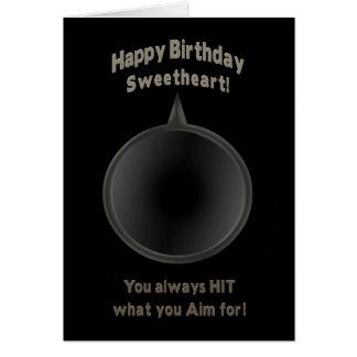 BIRTHDAY - SWEETHEART - GUN - AIM GREETING CARDS