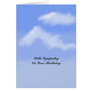 Birthday Sympathy Card