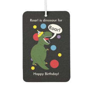 Birthday T-Rex Dinosaur Car Air Freshener
