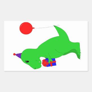 Birthday T-Rex Rectangular Sticker