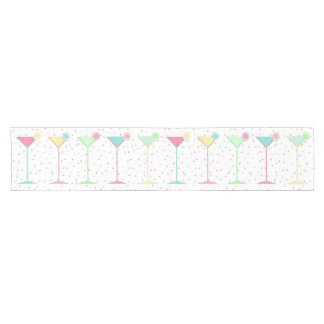 Birthday Table Runner, confetti coloured martini's Short Table Runner