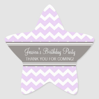 Birthday Thank You Custom Name Favor Tags Lilac Sticker