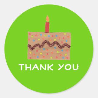 Birthday thank you sticker