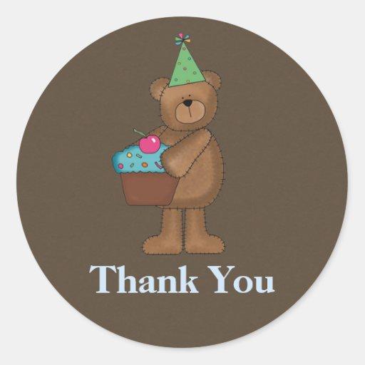 Birthday Thank You Stickers