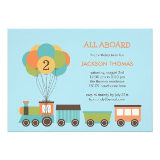 Birthday Train Birthday Party Invitation Personalized Invite