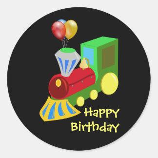Birthday Train Celebration Round Sticker