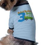Birthday Truck boy 3 Pet Clothing
