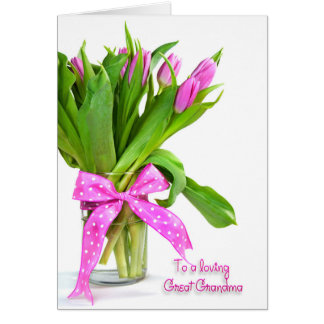 Birthday Tulips for Great Grandpa Greeting Card