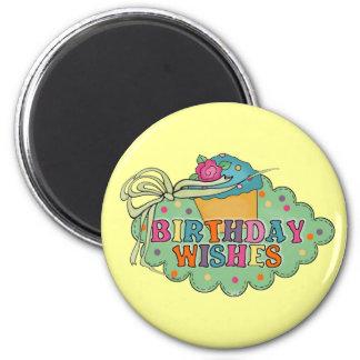 Birthday Wishes 6 Cm Round Magnet