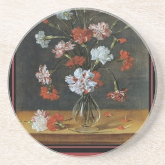 Birthday Wishes - Carnations In A Glass Vase Coaster