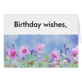 Birthday wishes flower card