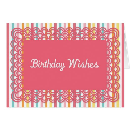 Birthday Wishes Greeting Card Template