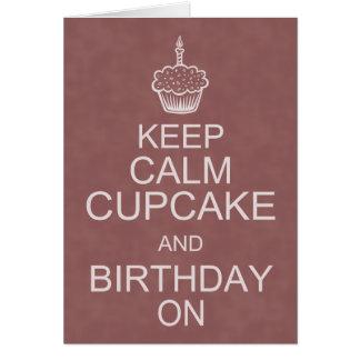 Birthday Wishes, Keep Calm Cupcake Card