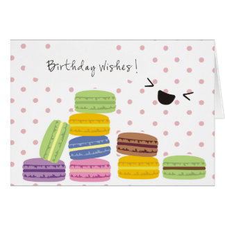 Birthday Wishes - Macaroons Design Greeting Card