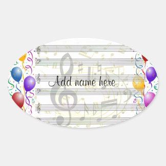 Birthday Wishes_ Oval Sticker