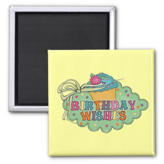 Birthday Wishes Square Magnet